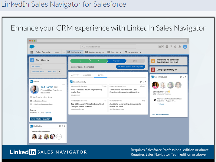 Linkedin Sales Navigator For Salesforce